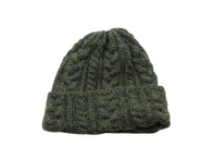 Hunter Green Cable Knit Watch Cap - Fine And Dandy