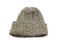 Oatmeal Cable Knit Watch Cap - Fine And Dandy