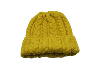 Yellow Cable Knit Watch Cap - Fine And Dandy