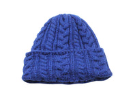 Royal Blue Cable Knit Watch Cap - Fine And Dandy