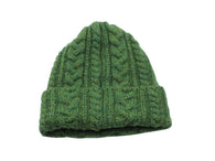 Green Cable Knit Watch Cap - Fine And Dandy