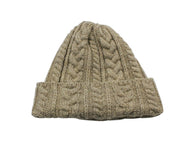 Tan Cable Knit Watch Cap - Fine And Dandy