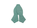 Sea Foam Green Raw Silk Bow Tie - Fine And Dandy