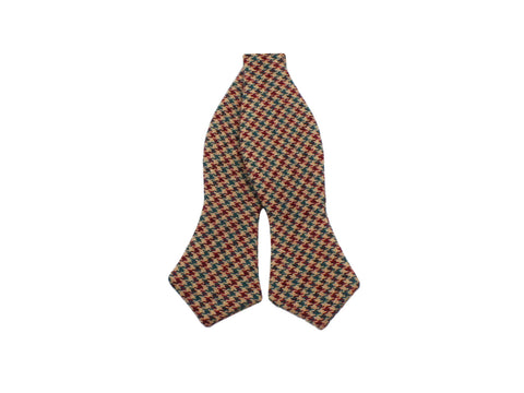 Gun Check Wool Bow Tie - Fine And Dandy