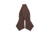 Burgundy Florette Wool Bow Tie - Fine And Dandy