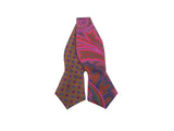 Copper Florette & Paisley Reversible Bow Tie - Fine And Dandy