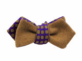 Camel & Purple Florette Reversible Bow Tie - Fine And Dandy