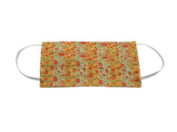 Orange Floral & Striped Face Mask - Fine And Dandy