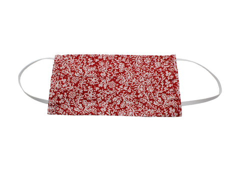 Red Floral Face Mask - Fine And Dandy