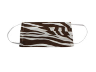 Brown Zebra Striped Face Mask - Fine And Dandy