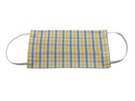 Yellow & Blue Gingham Face Mask - Fine And Dandy