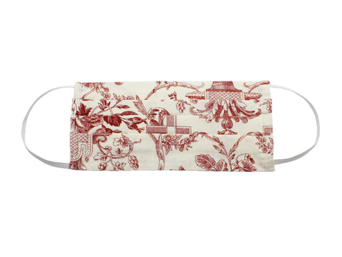 Red Toile Face Mask