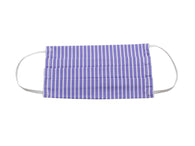 Periwinkle Striped Face Mask - Fine And Dandy