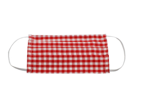 Red Gingham Face Mask - Fine And Dandy