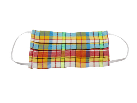 Multi-Colored Madras Face Mask - Fine And Dandy