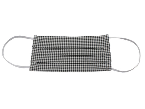 Black Gingham Face Mask - Fine And Dandy
