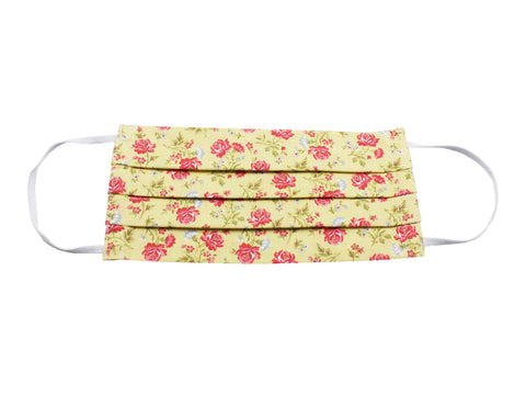 Yellow & Pink Floral Face Mask - Fine And Dandy