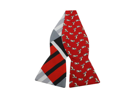 Dapper Dog Reversible Bow Tie - Fine And Dandy