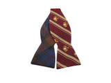 Plaid & Eagle Crest Reversible Bow Tie - Fine And Dandy