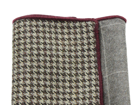 Windowpane & Houndstooth Panelled Pocket Square - Fine And Dandy