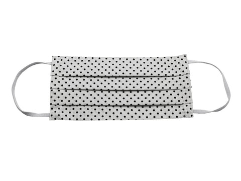 White & Black Polka Dot Face Mask - Fine And Dandy