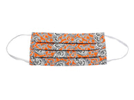 Orange Paisley Face Mask - Fine And Dandy