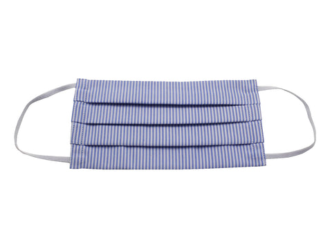 Blue Striped Oxford Face Mask - Fine And Dandy