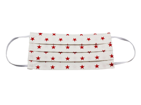 Red Stars Face Mask - Fine And Dandy