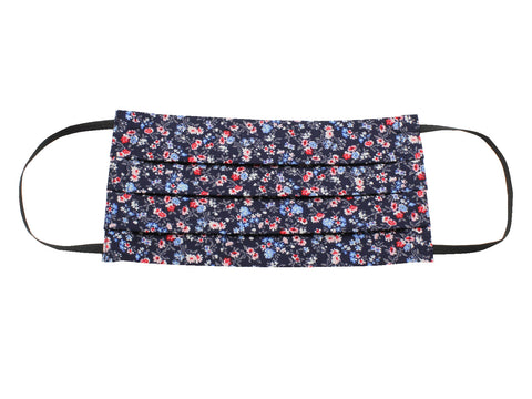 Navy Floral Face Mask - Fine And Dandy