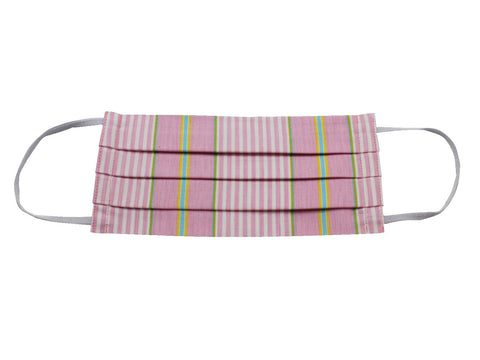 Pink Striped Face Mask - Fine And Dandy