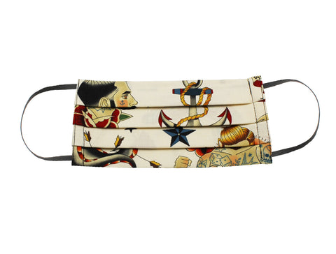 Retro Sailor Tattoos Face Mask - Fine And Dandy