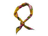 Gold Floral Cotton Neckerchief - Fine And Dandy