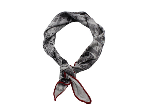 Skyline Cotton Neckerchief - Fine And Dandy