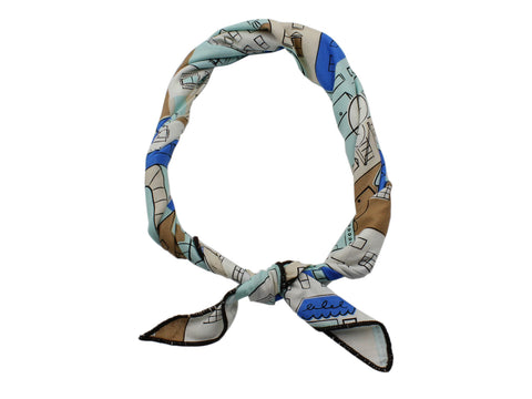 Townhouses Cotton Neckerchief - Fine And Dandy