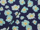 Teal Floral Cotton Neckerchief - Fine And Dandy