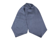 Steel Grey Silk Ascot - Fine And Dandy