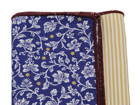 Floral Vines & Striped Panelled Pocket Square - Fine And Dandy