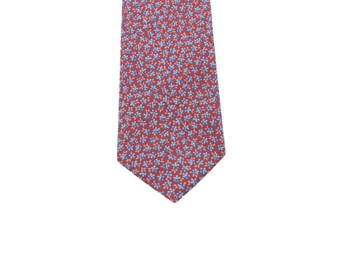 Mulberry Floral Cotton Tie - Fine And Dandy