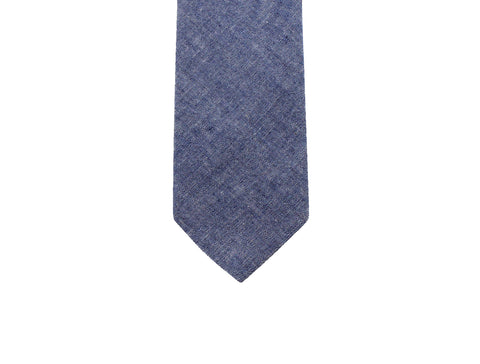 Blue Chambray Tie - Fine And Dandy