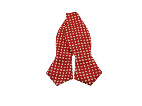 Red Polka Dot Silk Bow Tie - Fine And Dandy
