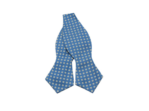 Sky Blue Polka Dot Silk Bow Tie - Fine And Dandy