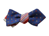 Striped & Florette Reversible Bow Tie - Fine And Dandy