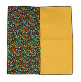 Gold Floral Panelled Pocket Square - Fine And Dandy