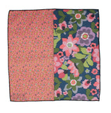 Peach Floral Panelled Pocket Square - Fine And Dandy