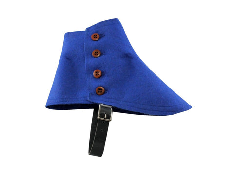 Blue Wool Felt Spats - Fine and Dandy