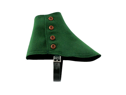Green Wool Felt Spats - Fine and Dandy