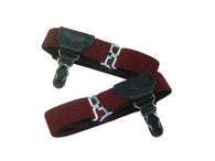 Single Grip Burgundy Sock Garters - Fine and Dandy