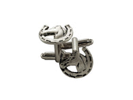 Silver Horseshoe Cufflinks - Fine and Dandy