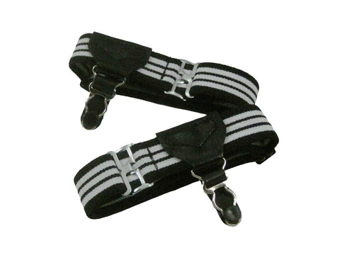 Black & White Sock Garters - Fine and Dandy