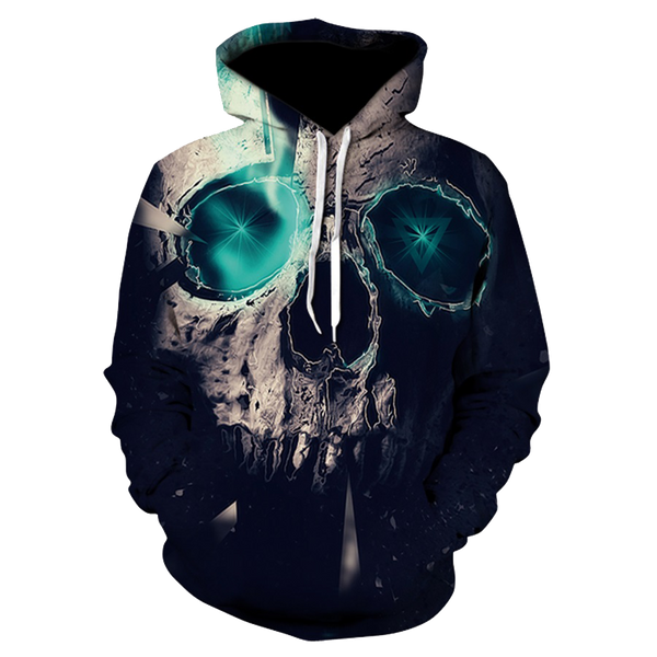 Green Eyes Skull Hoodies [FREE SHIPPING]